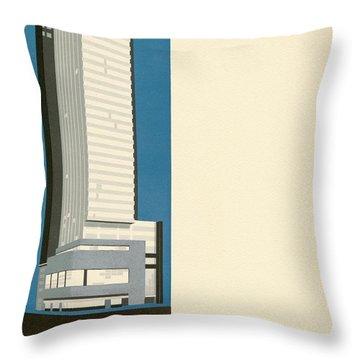 Nothing More Modern The Philadelphia Savings Fund Society Building, 1932 Throw Pillow