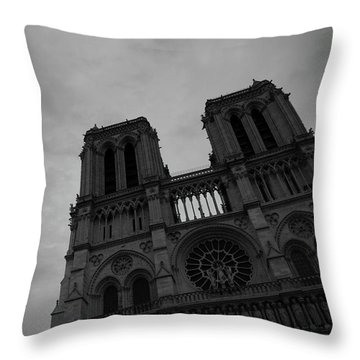 Throw Pillow featuring the photograph Notre Dame Cathedral by Edward Lee