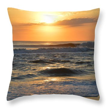 Throw Pillow featuring the photograph November 3, 2018 Sunrise by Barbara Ann Bell