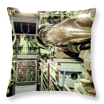 Nuclear Submarine Torpedo Room Throw Pillow
