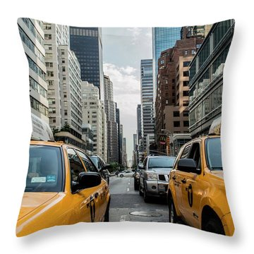 Ny Taxis Throw Pillow