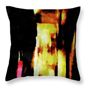 Throw Pillow featuring the painting Ny Verve 2 by Joan Reese