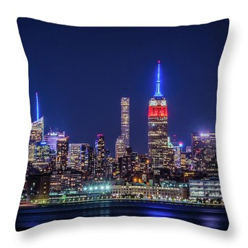 Nyc At The Blue Hour Throw Pillow