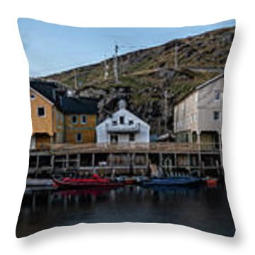 Nyksund Vesteralen Throw Pillow
