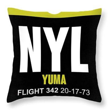 Nyl Yuma Luggage Tag II Throw Pillow