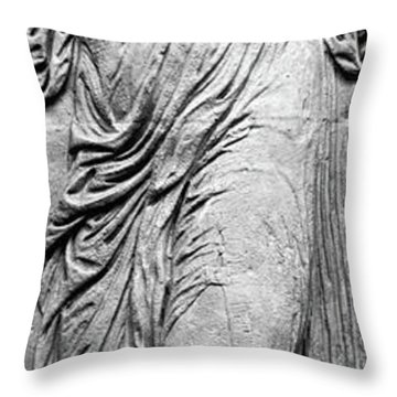 Nymph From The Reliefs From The Fountain Of The Innocents Throw Pillow