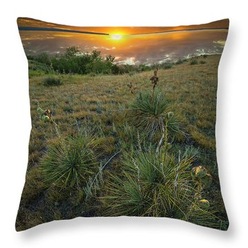 Throw Pillow featuring the photograph Oahe Sunset  by Aaron J Groen