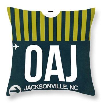Oaj Oaj Jacksonville Luggage Tag I Luggage Tag I Throw Pillow