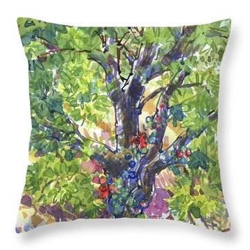 Oak And Poison Ivy Throw Pillow