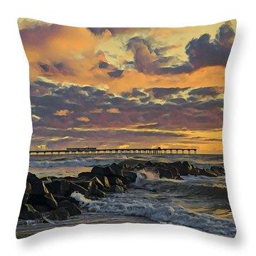 Ob Sunset No. 3 Throw Pillow