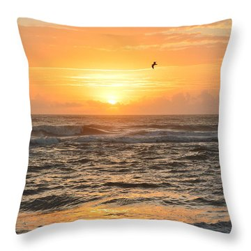 Throw Pillow featuring the photograph Obx Sunrise 9/17/2018 by Barbara Ann Bell