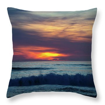 Throw Pillow featuring the photograph Obx Sunrise by Lora J Wilson