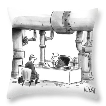 Occasional Plumbing Throw Pillow