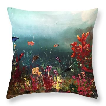 Ocean Beauty Throw Pillow