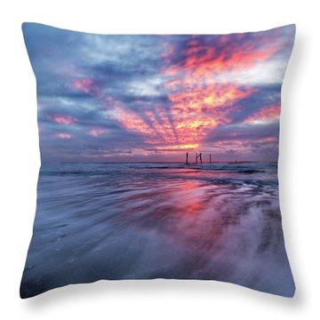 Ocean City Lights Throw Pillow