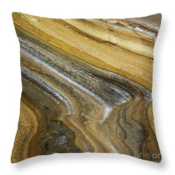 Throw Pillow featuring the photograph Ocean Cliff Textures - Organic Patterns And Textures by Charmian Vistaunet