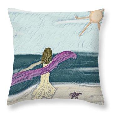 Ocean Dance Throw Pillow