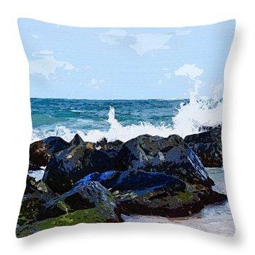 Ocean Meets The Coast Throw Pillow
