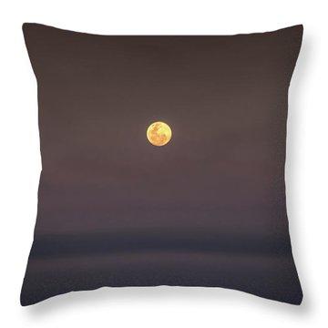 Ocean Moon Throw Pillow
