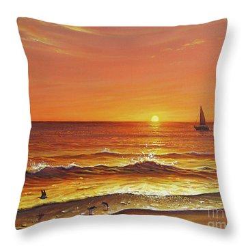 Ocean Of Fire Throw Pillow