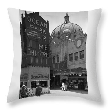 Ocean Park Pier 1920 Throw Pillow