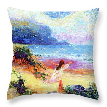 Ocean Song Throw Pillow