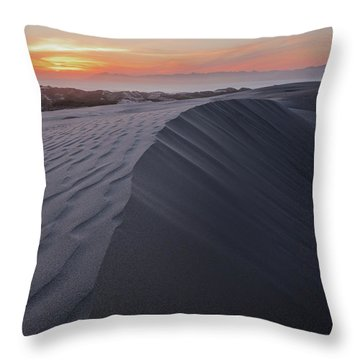 Oceano Dunes Sunset Throw Pillow