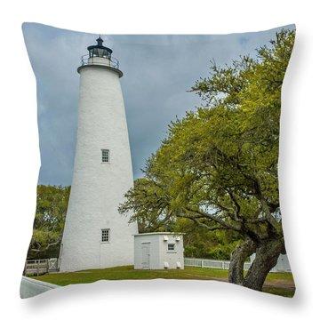 Ocracoke Lighthouse No 2 Throw Pillow