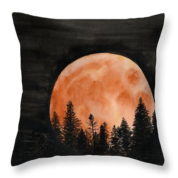 Throw Pillow featuring the painting October 2018 by Betsy Hackett