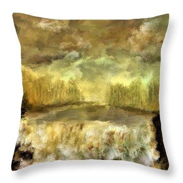October At The Falls Throw Pillow