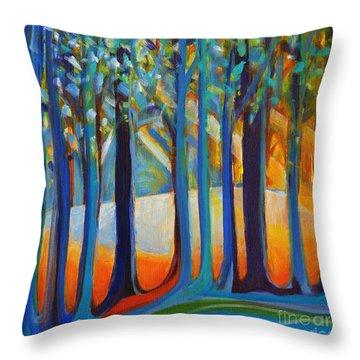 October Sunshine Throw Pillow