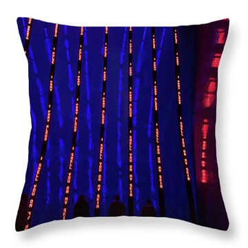 Throw Pillow featuring the photograph Off To The Data Mines by Alex Lapidus