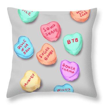 Office Convo Hearts Throw Pillow