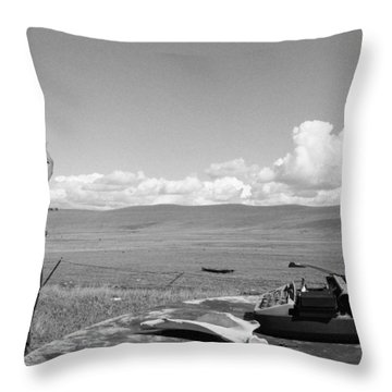 Throw Pillow featuring the photograph Office Of The Poet by Carl Young