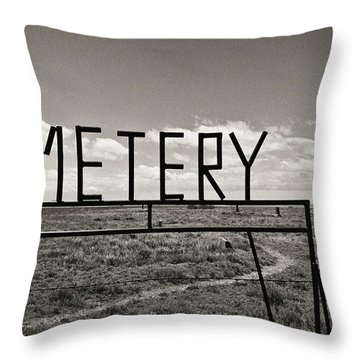 Throw Pillow featuring the photograph Oh, Bury Me Not by Carl Young
