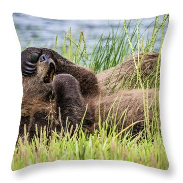 Oh My God Throw Pillow