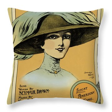 Oh, You Beautiful Doll  Vintage Poster Throw Pillow