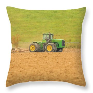 Throw Pillow featuring the photograph Ohio Farmer by Dan Sproul