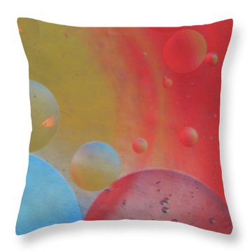 Oil And Color Throw Pillow