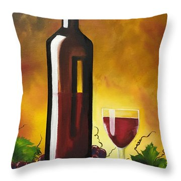 Throw Pillow featuring the painting Okanagan Red  by Sharon Duguay