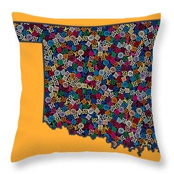 Oklahoma Map - 2 Throw Pillow