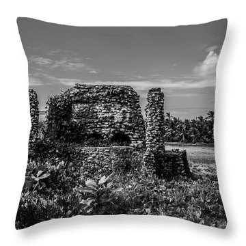 Old Brick Oven Throw Pillow