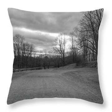 Old Canal Road - Waterloo Village Throw Pillow