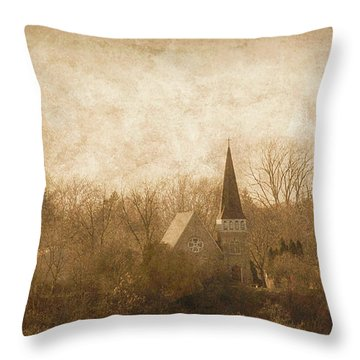 Old Church On A Hill  Throw Pillow