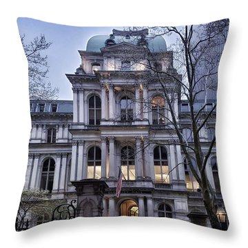 Old City Hall, Boston Throw Pillow