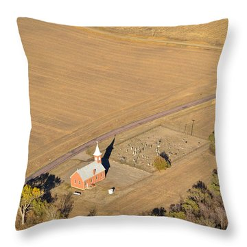 Throw Pillow featuring the photograph Old Country Church by Carl Young
