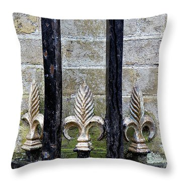 Old Decorative Railing Throw Pillow