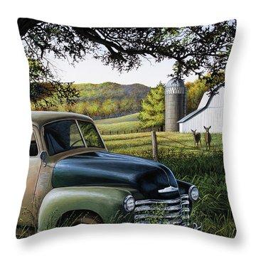 Old Farm Truck Throw Pillow