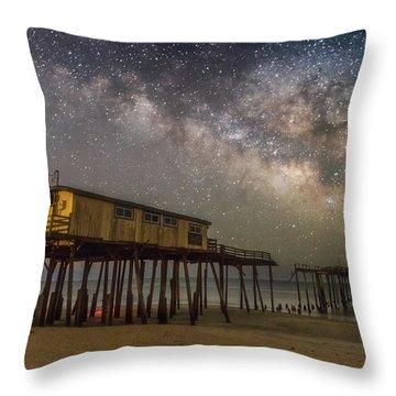 Old Frisco Pier Throw Pillow