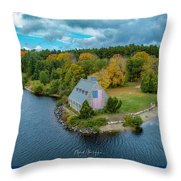 Throw Pillow featuring the photograph Old Glory by Michael Hughes